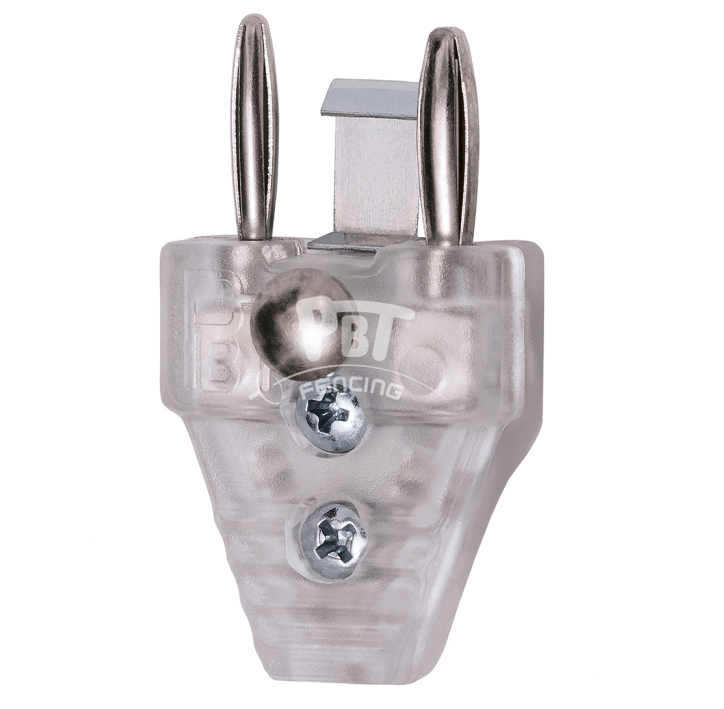 37-631/F2 Transparent cable plug, 2 pin