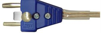 37-631/C Blue cable plug, 2 pin