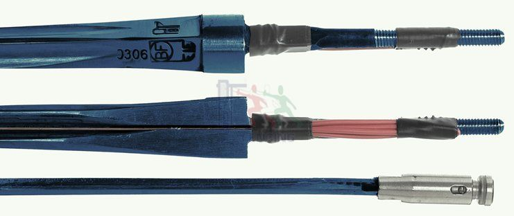 32-54B Epée blade FIE-BF-BLUE maraging with point and wire