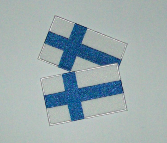 OMT-03 Finnish flag 2pcs 15x9,5cm