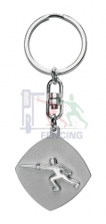 45-1011 Fencer keychain silver color