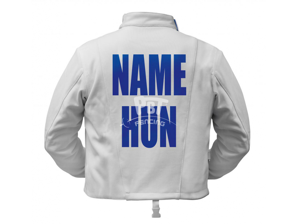 Printed name + country to all jackets and electric vests